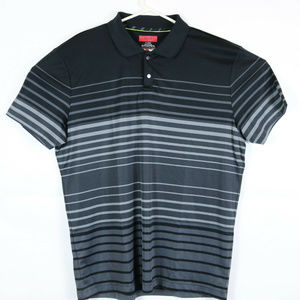 Alfani Mens XL Slim FIt Polo Black Striped